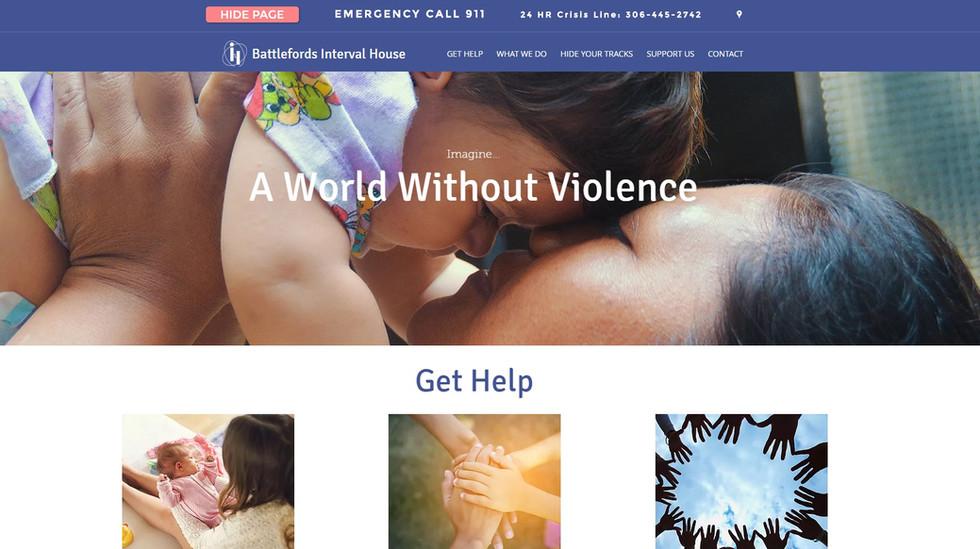 Battlefords Interval House Website Design