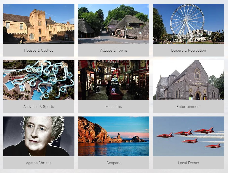 Our website contains a huge list of things to do on the English Riviera and in Devon as well as Torquay