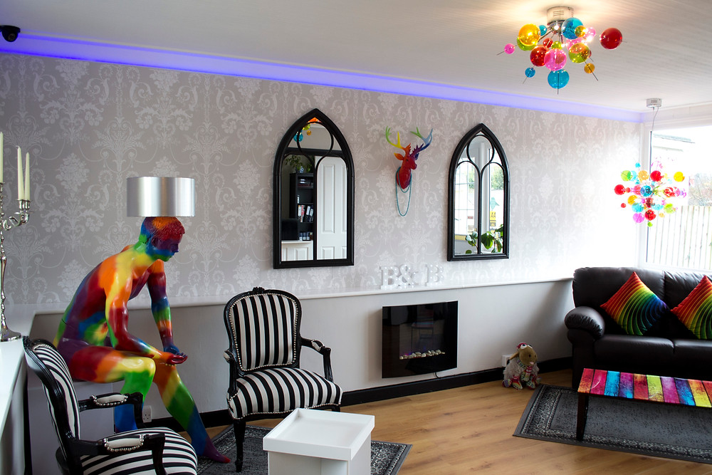 Our funky reception area