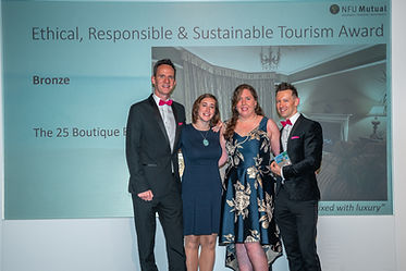 Bronze award for Ethical, Responsible & Sustainable Tourism