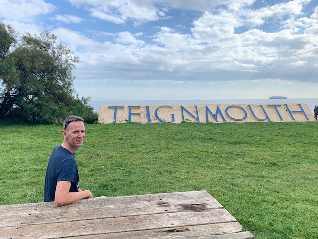 The last stop on our coastal walk to Teignmouth