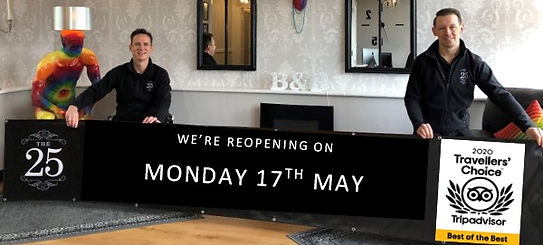 Now opening 17th May 21