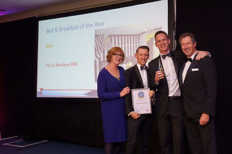Winners of Best B&B at the English Riviera Tourism Awards 2019