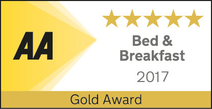 The AA Bed & Breakfast 5 star rating