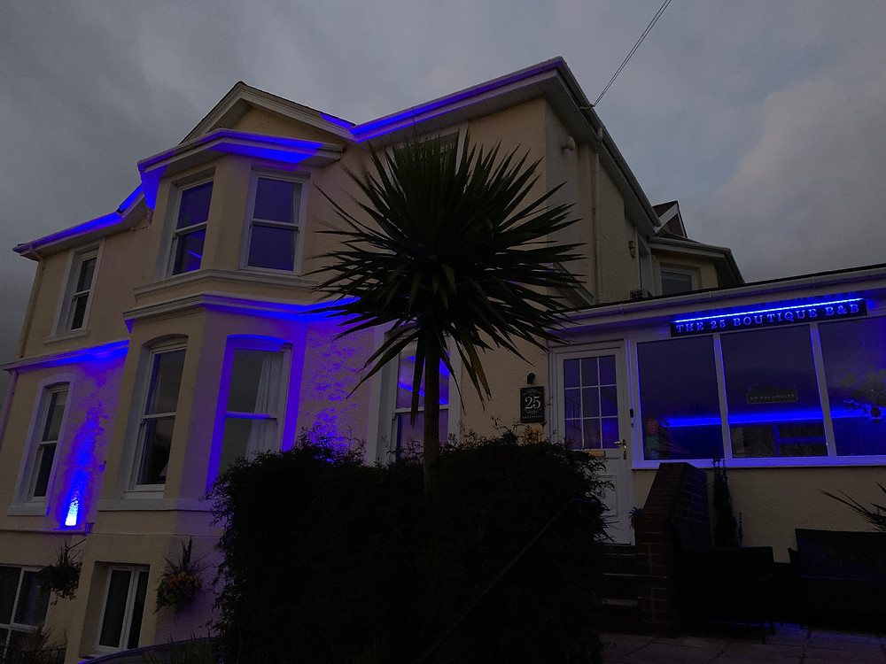 Lighting up in blue for #clapforcarers
