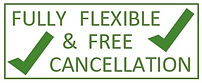 All bookings are fully flexible with free cancellation