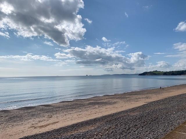 Our walk enjoyed stunning Devon coastal views