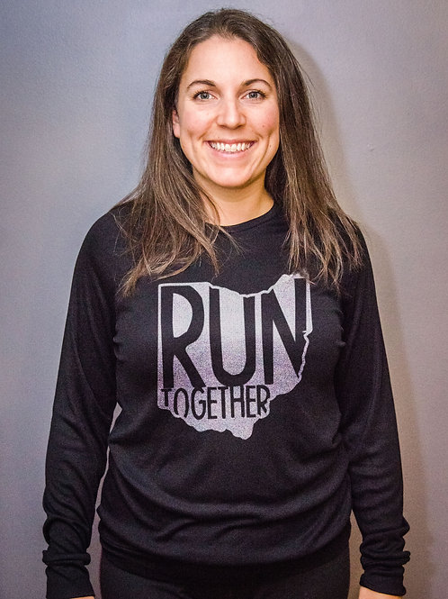 Run Together Crossover Hoodie - black