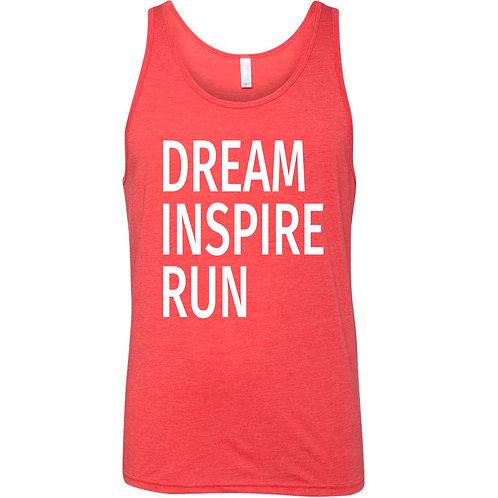 Dream Inspire Run Text Tank Top