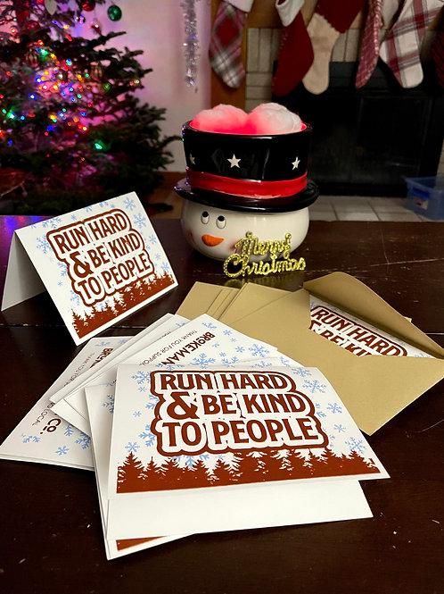 Run Hard Christmas Cards
