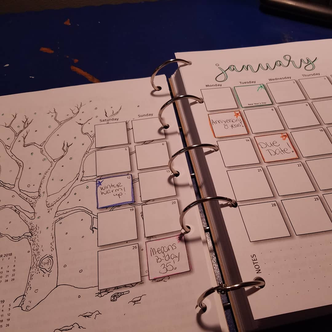 Monthly calendar spread