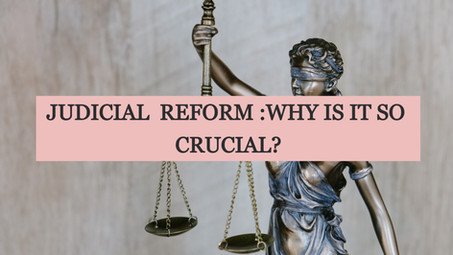 JUDICIAL  REFORM :WHY IS IT SO CRUCIAL?