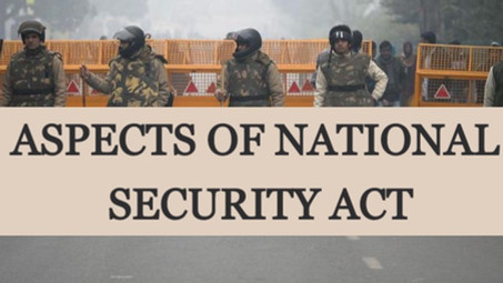 ASPECTS OF NATIONAL SECURITY ACT