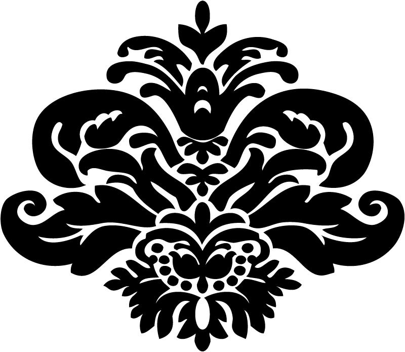 simple damask stencil - 800×695