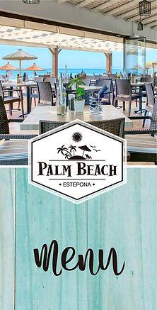 Palm Beach Menu