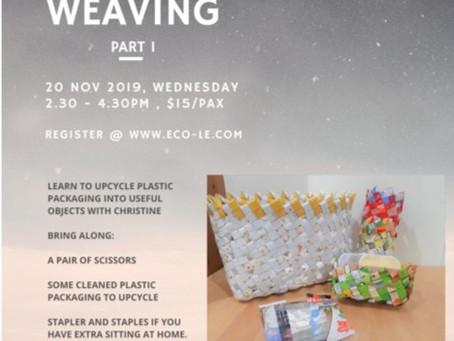 Repurpose your disposable plastic packaging - plattan weaving.