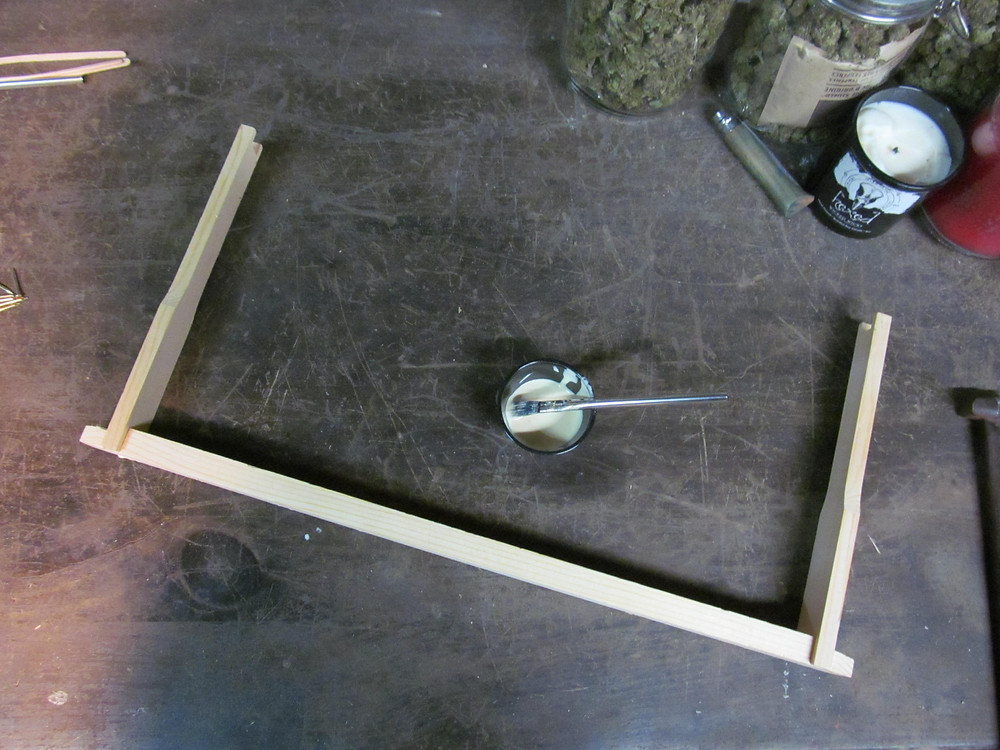 Building a deep langstroth frame for a langstroth beehive