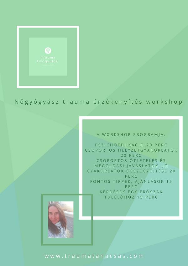 Nőgyógyász trauma érzékenyítés workshop Hossz 90 perc Az átlag populációban felnőtt beszám