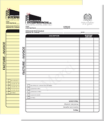personalised invoice book