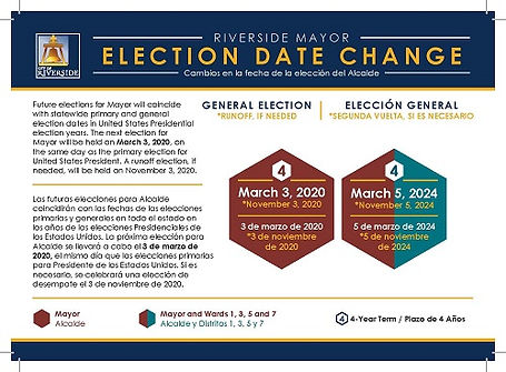 Mayor Election Date Change Notice to Vot