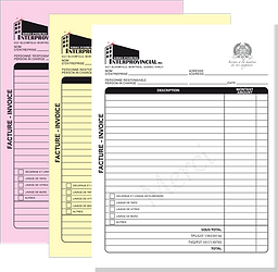 custom carbonless invoice book