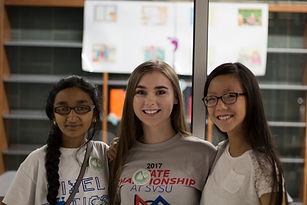 Girls in STEM! Girls Danielle mentored o