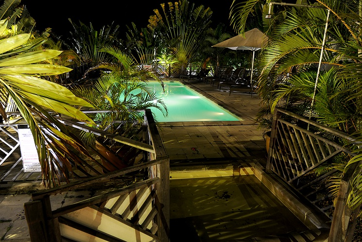 Pool night  - La Nea Hotel