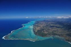 Birds-eye view of Bourail, New Caledonia
