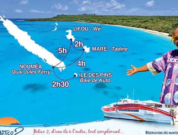 Betico Ferry - Itineraries - New Caledonia