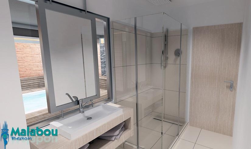 Renovated Room - Bathroom - Malabou Beach Hotel