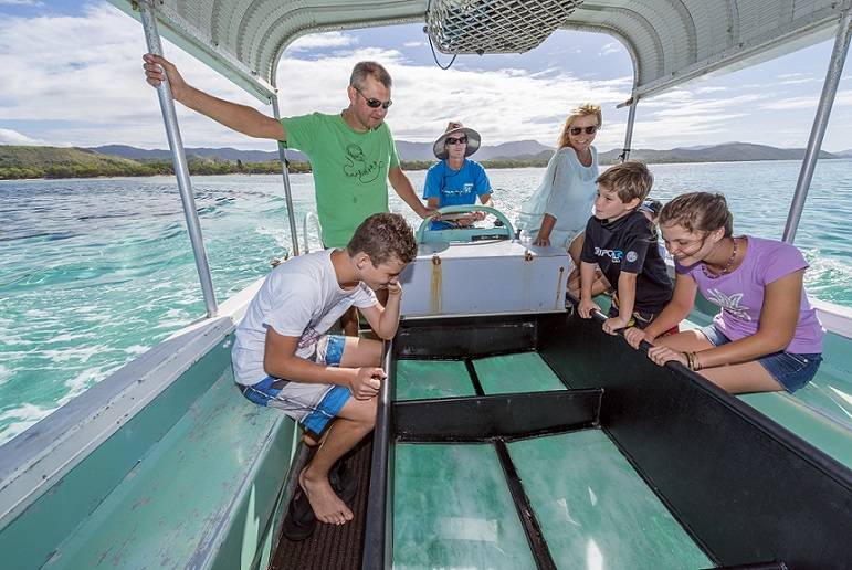 Glass-bottom boat ride