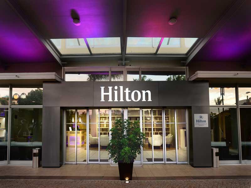 Lobby entrance Hilton