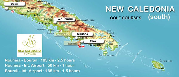 MAP - GOLF COURSES NEW CALEDONIA
