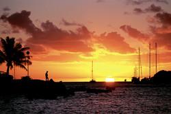 Sunset Over Water, Nouméa