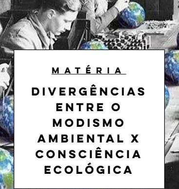 Divergências entre o Modismo Ambiental x Consciência Ecológica