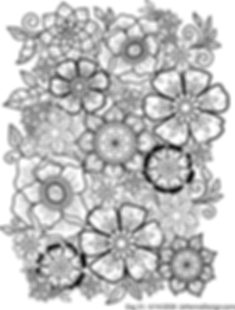 Floral Background 1 Coloring Page to sha
