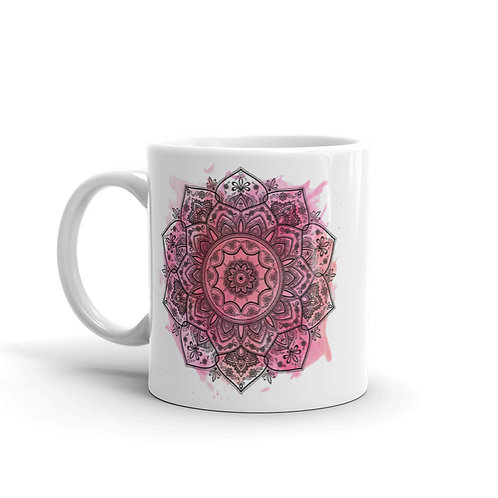 Pink Watercolor Sentinella Mandala Mug