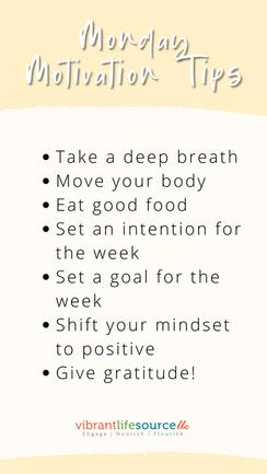 Monday Motivation TipsTake a deep breath