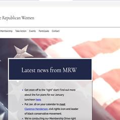 Website design for Moore Republican Women