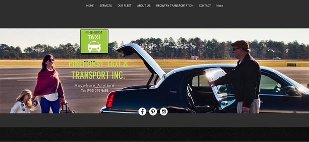 Pinehurst Taxi Website Design, SEO and Photo Shoot
