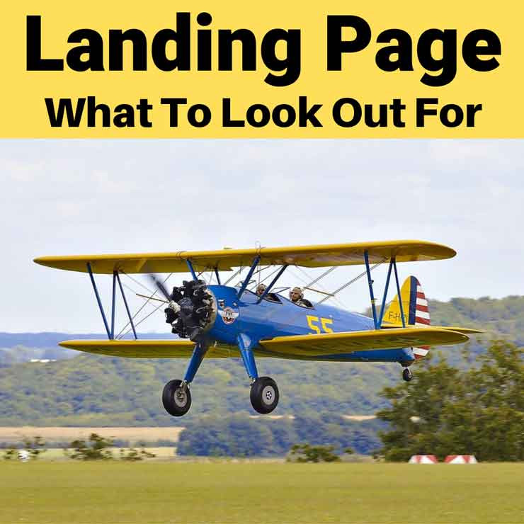 Landing Page:  What To Look Out For