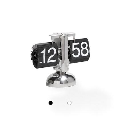 Frameless Desktop Flip Clock (Silver Finish)