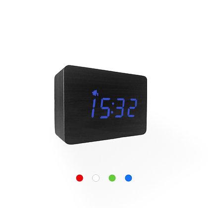 Wood Style Digital Clock WD24-3 Black Finish