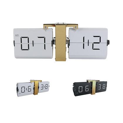 Large Frameless Flip Clock (Gold)