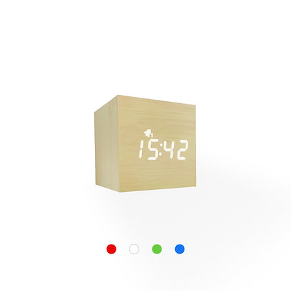 Wood Style Digital Clock WD23-3 Bamboo Finish