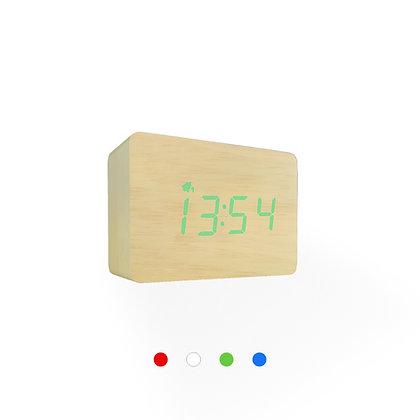 Wood Style Digital Clock WD24-3 Bamboo Finish