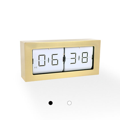 Large Framed Flip Clock (Gold Finish)