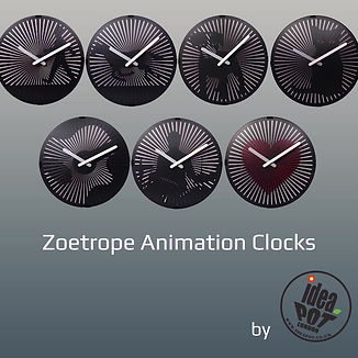 ideaPOT Zoetrope Clocks