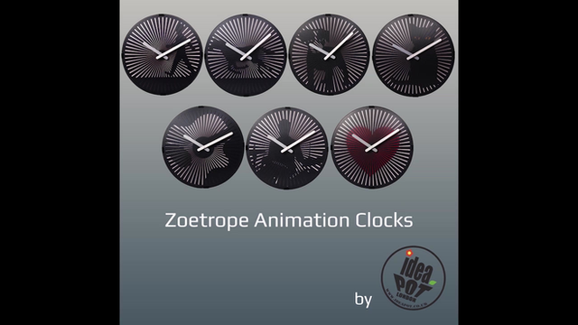 New Zoetrope Clock Video