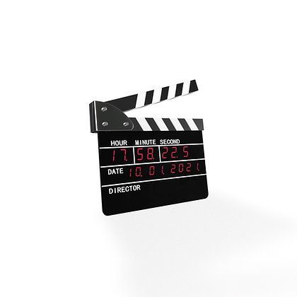 Clapperboard Digital Clock